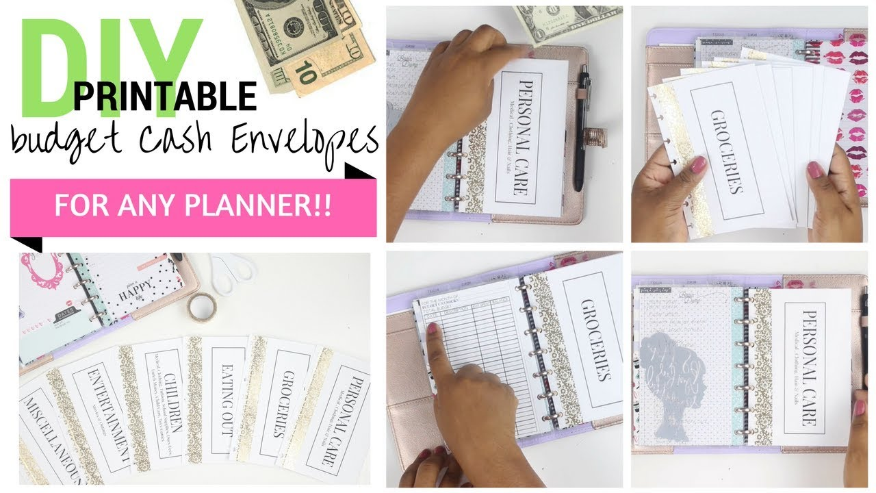 photo relating to Happy Planner Printable identified as Do it yourself CA$H 💵💰 Envelopes for ANY PLANNER!! + Printable PDF Mini Pleased Planner At Property With Quita