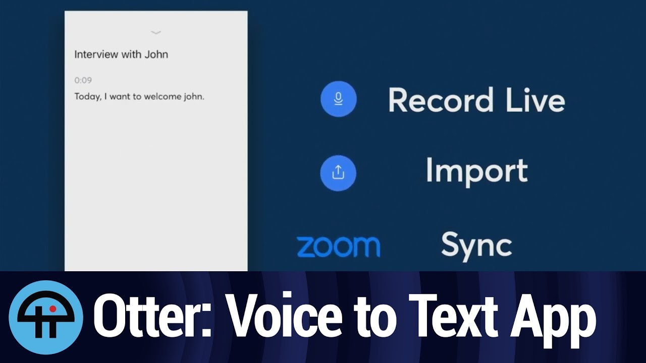 Transcribe Voice to Text with Otter Voice Notes