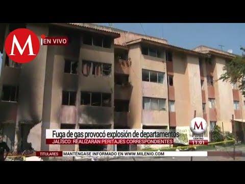 Explotan cuatro departamentos en Arcos de Zapopan