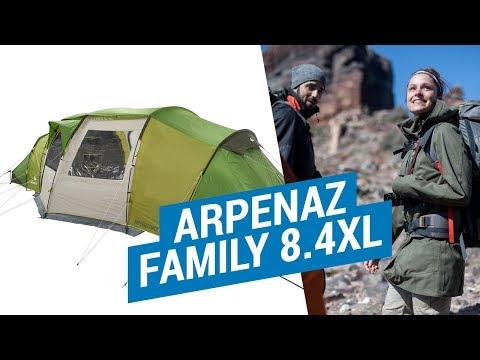 Декатлон.Палатки Семейные.ARPENAZ FAMILY 8.4XL
