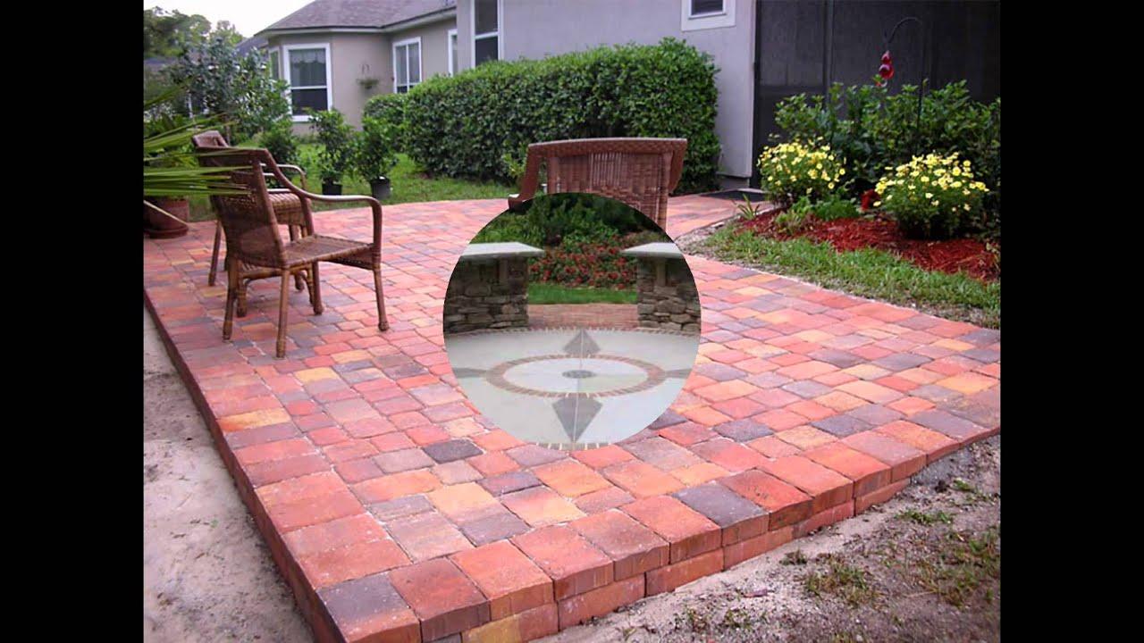 diy brick patio - YouTube on Backyard Brick Patio id=19410
