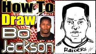 How To Draw A Quick Caricature Bo Jackson