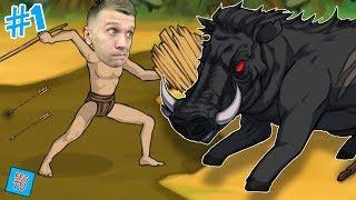 ВЫЖИВАНИЕ на ОСТРОВЕ 1 Охотимся на Животных и Монстров в игре Primitive Brothers от FFGTV