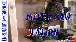 Make A Simple Miter Saw Station