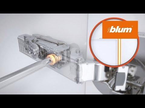 CLIP top BLUMOTION 內置緩�門鉸 : 安�和調節示範   Blum