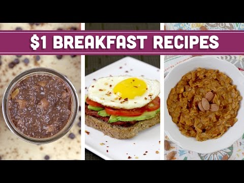 Healthy $1 Breakfast Recipes - Easy Budget Meals with Vegan Options! - Mind over Munch