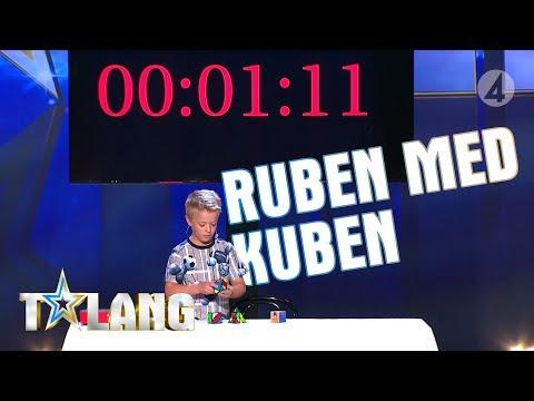 Nioåriga Ruben skapar spänning med sina rubikskuber