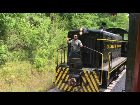 Train ride through Calera and Shelby County, AL