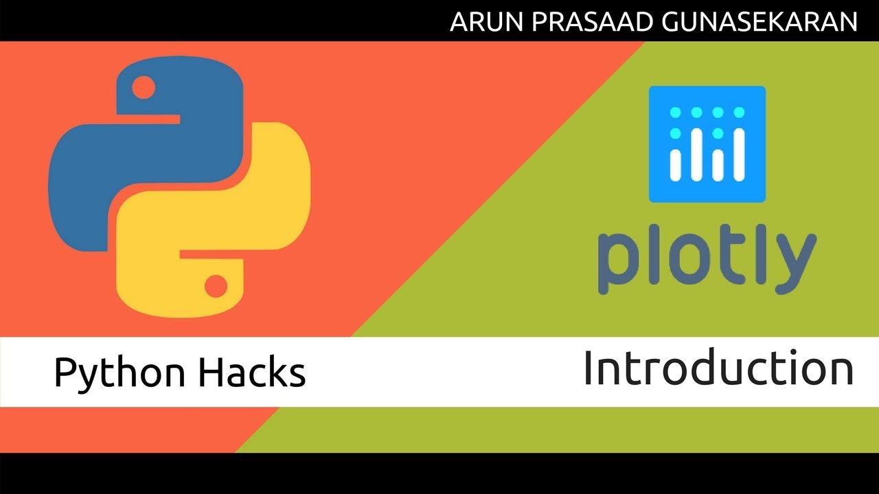 Python Hacks : Data Visualization using Plotly - Introduction