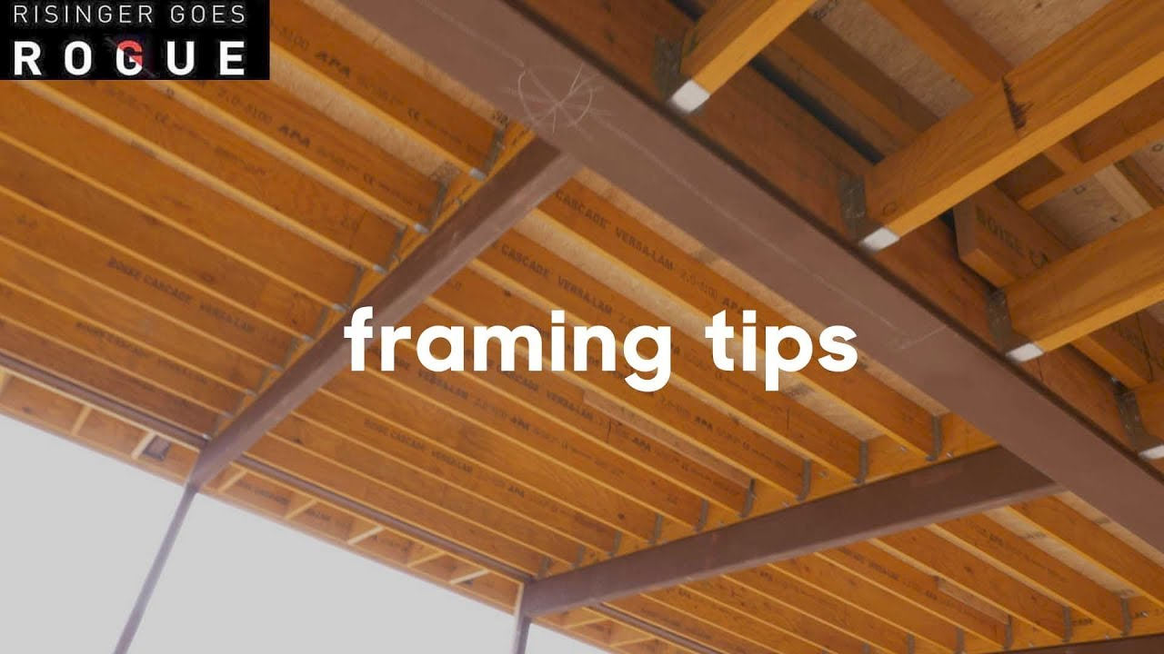 three framing tips modern architecture youtube
