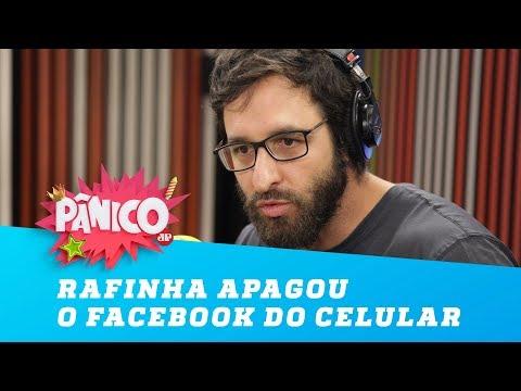 Rafinha conta por que apagou o Facebook do celular