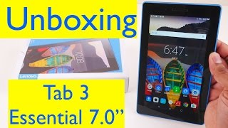 Lenovo Tab3 7 Essential Unboxing and Setup- Android Marshmallow Tablet