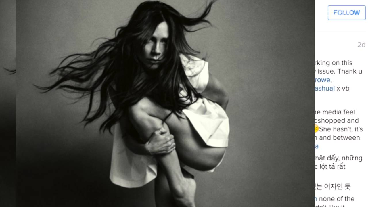 Vogue China Appears To Have Photochopped Victoria Beckhams Thigh Right Off Her Body