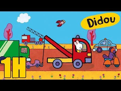 Camion de pompier, camion poubelle, voiture, didou dessine-moi les véhicules | Compilation