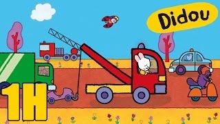 Compilation #3 : camion de pompier, camion poubelle, voiture - Didou dessine-moi les véhicules