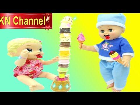 Đồ chơi trẻ em Búp bê ALIVE ăn CÂY KEM 12 TẦNG ĐỘC LẠ Ice Cream Tower toys for kids
