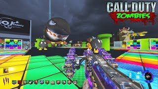 RAINBOW ROAD MARIO KART CUSTOM ZOMBIES!!! (Call of Duty Black Ops 3 Zombies Gameplay)