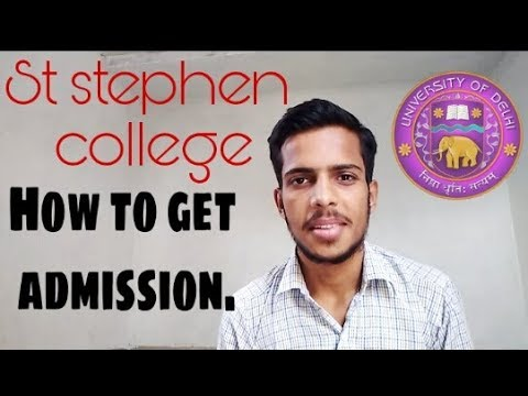 how to get admission in st stephen college.