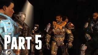 Halo: Reach - Walkthrough Part 5 - Long Night Of Solace (No Commentary)