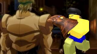 Roblox noob with infinity gauntlet vs Dio [Green screen test]