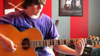 How to play Face Down (Acoustic) by the Red Jumpsuit Apparatus on guitar