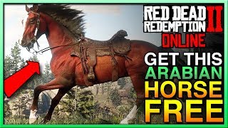 Red Dead Redemption 2 Online FREE Red Chestnut Arabian Horse on RDR2 Online! Red Dead Online!