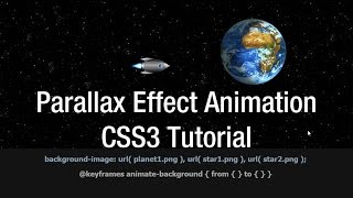 Parallax Effect Animation Multiple Background CSS Tutorial