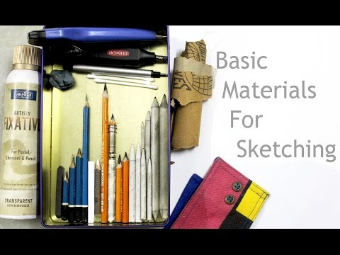 Basic Materials for Sketching - Everything you need to start your first sketch