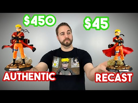 COMPARING!!! - $450 💵 Authentic VS $45 💵 PVC Recast - Naruto Sage Mode