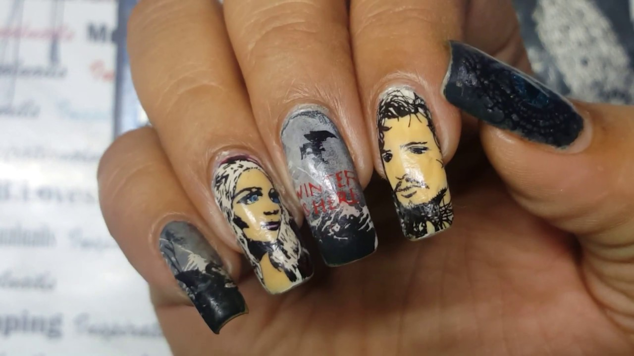 Nail Stamping Time- Game of Thrones Theme mani - YouTube