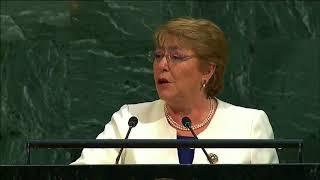 Presidenta Bachelet en la ONU: