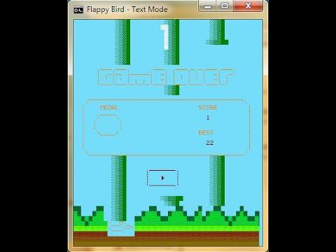 Batch Game: [Colours, Sound] Flappy Bird in Batch Script File