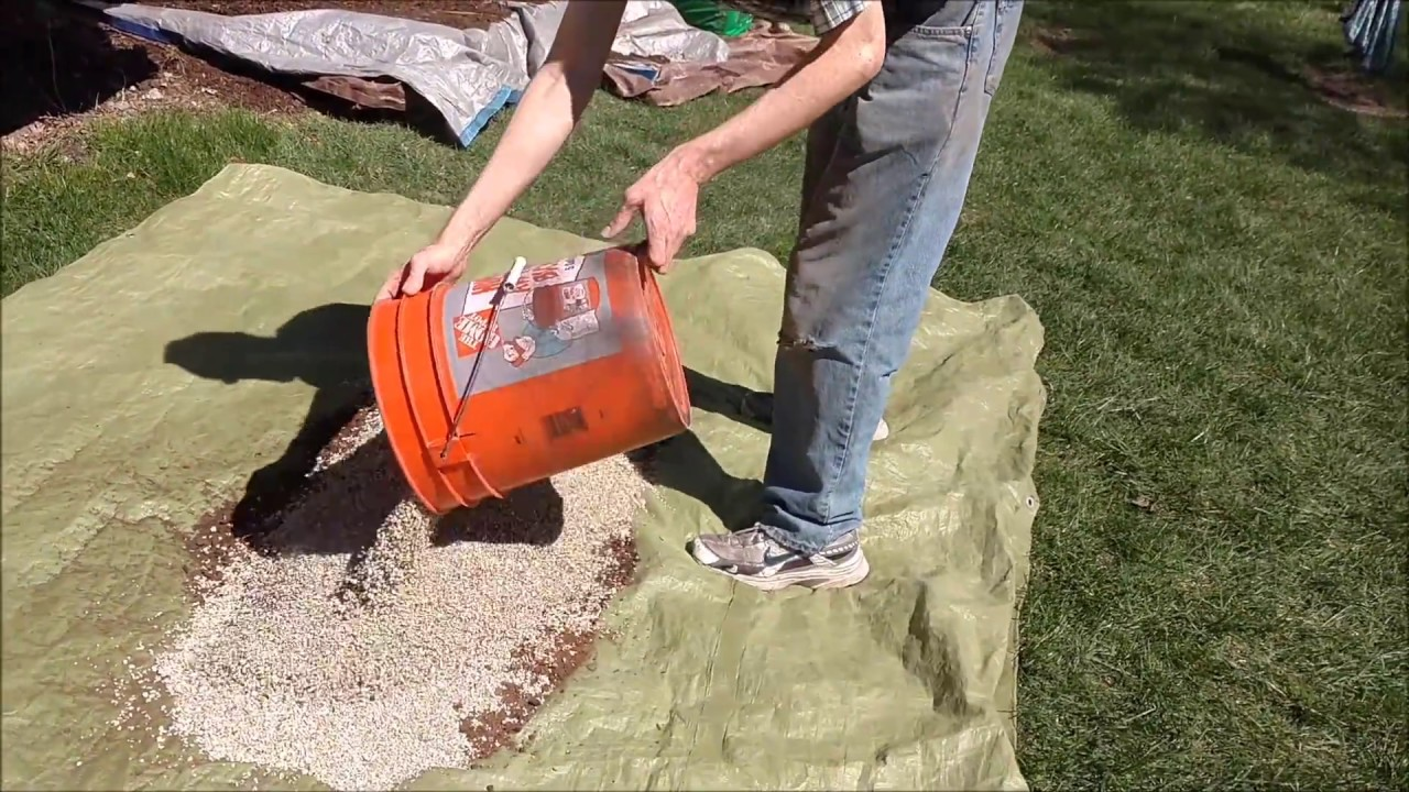 Square Foot Garden Dirt Mixing