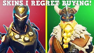 20 SKINS I REGRET BUYING In FORTNITE! (Don't Buy These Skins!)