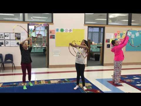 Hoop Dance Lessons at Tiospa Zina Tribal School