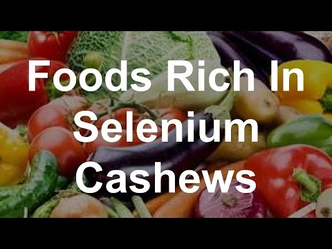 Foods Rich In Selenium - Cashews