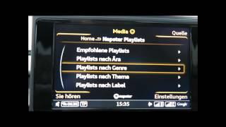 Audi A6: MMI Plus Medien Napster - Facelift 2014