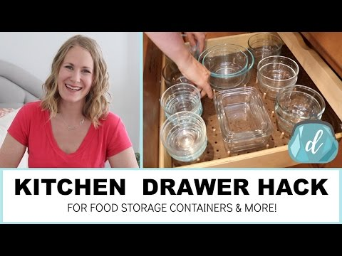 KITCHEN ORGANIZATION | Drawer hack for food storage containers & more!