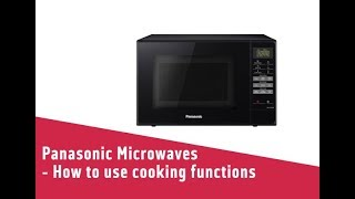 Panasonic Microwaves How to use cooking functions