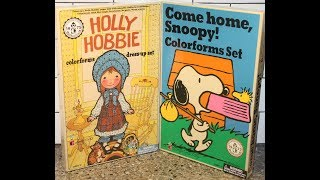 Colorforms Box Openings: Come Home, Snoopy! and Holly Hobbie