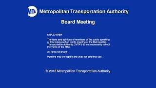 MTA Board - Board Meeting - 02/22/2018