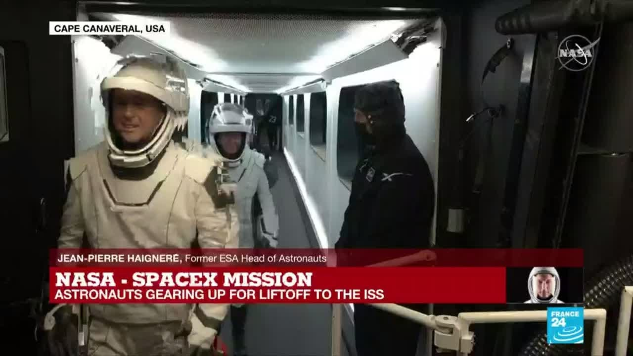 'Nobody can take my place now': veteran astronaut describes feeling of blasting into space - FRANCE 24 English