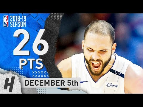 Evan Fournier Full Highlights Magic vs Nuggets 2018.12.05 - 26 Pts, 4 Ast, 8 Rebounds!