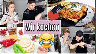 VLOG   Deniz & ich kochen ❤️ Rezept  für leckere mexikanische Enchiladas / Labellda