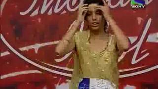 Anu Sharma comedy scene in Indian Idol 5 1st episode.flv