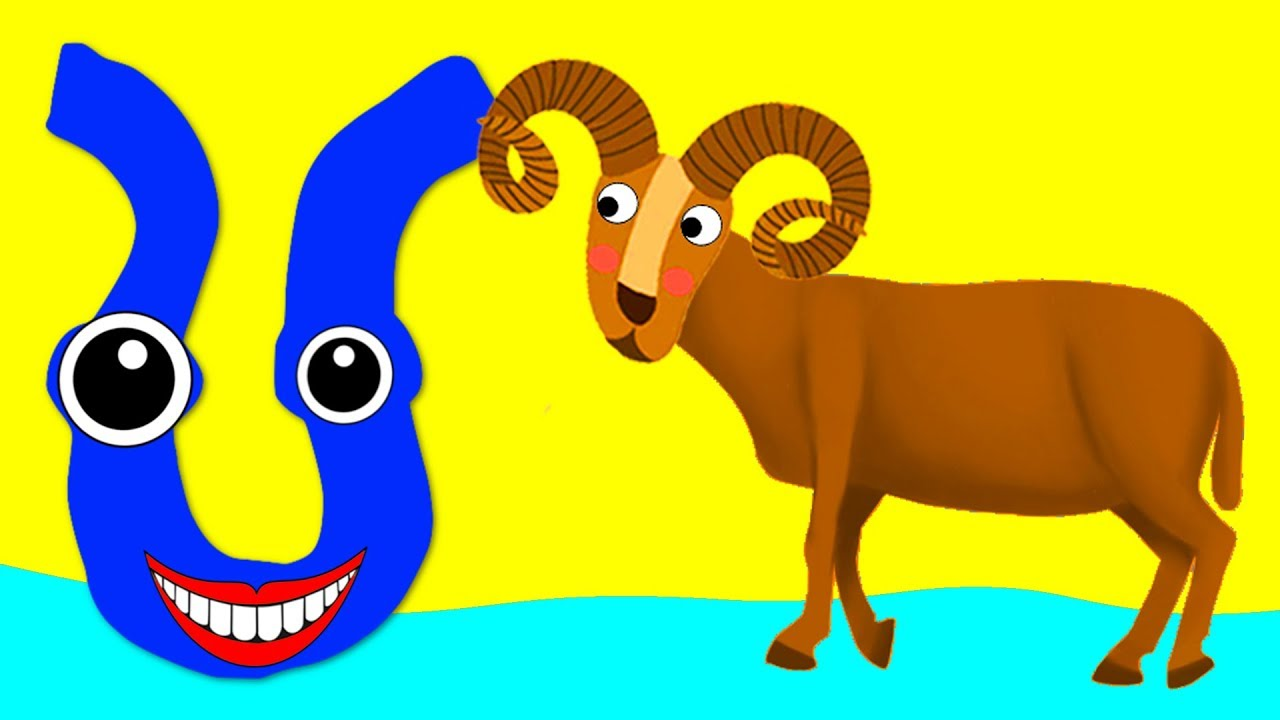 Learn the Alphabet Animals - Letter U - URIAL - YouTube
