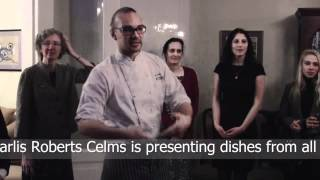 chef celms at the youth council launching reception in riga
