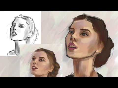 Как Рисовать Портрет в Фотошопе   Часть 1