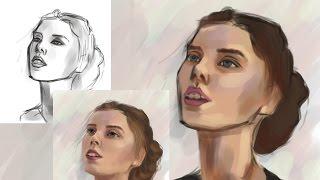 Как Рисовать Портрет в Фотошопе | Часть 1