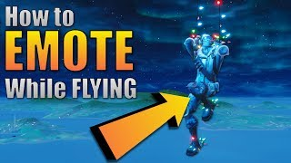 How to emote while GLIDING in Fortnite | Flying Emote glitch Fortnite Battle Royale